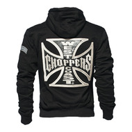 Veste CROSS PANEL ZIP UP HOODIES BLACK