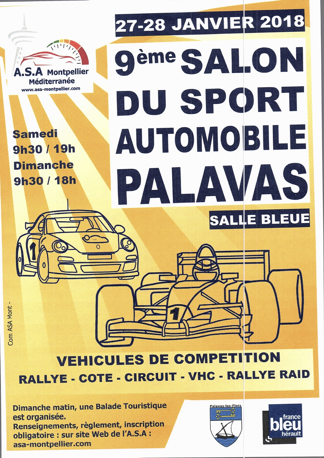 Participation au 9ème salon du sport automobile de PALAVAS